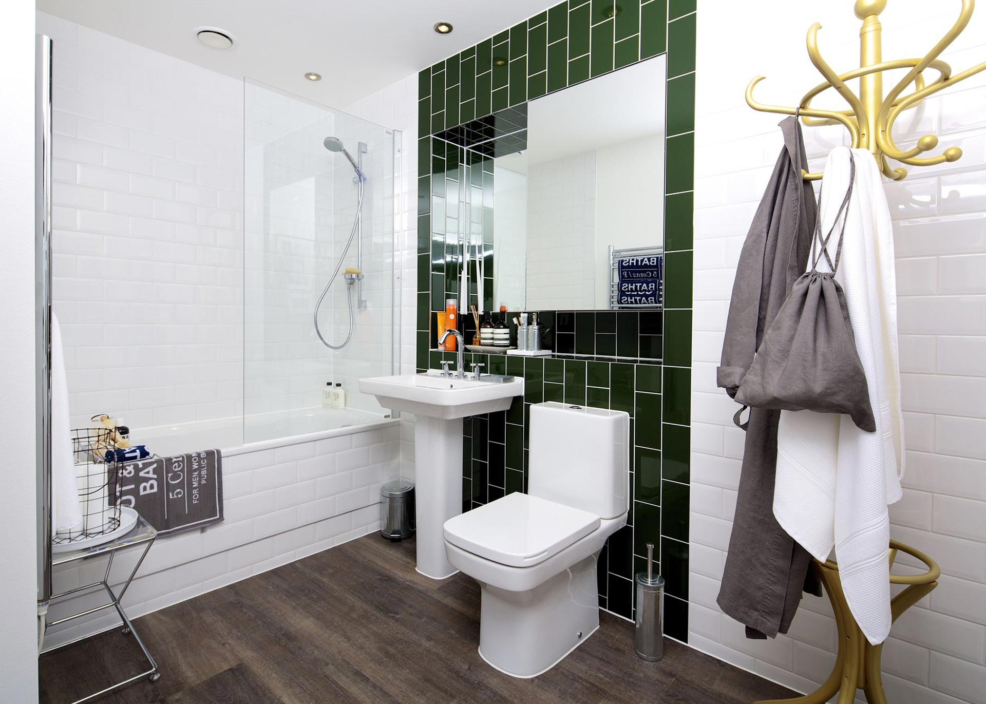 Bathroom at a Westmount apartment in Jersey