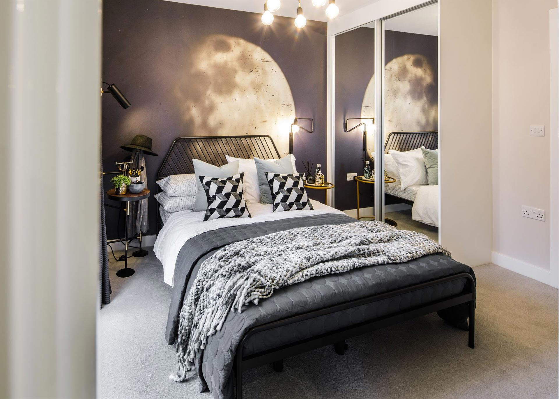 Bedroom at a Westmount apartment