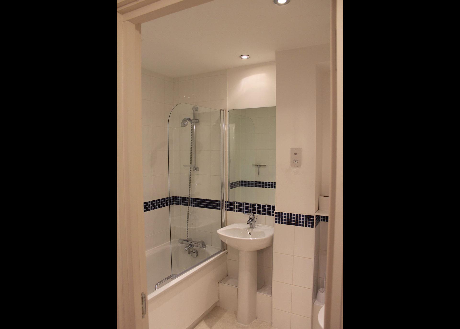 Bathroom at Century Buildings apartment