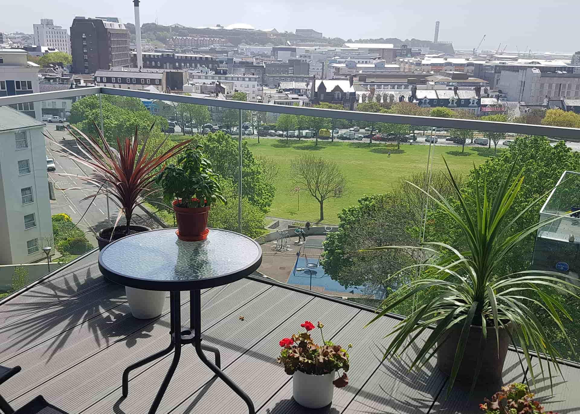 w1 apartment 501 Westmount balcony
