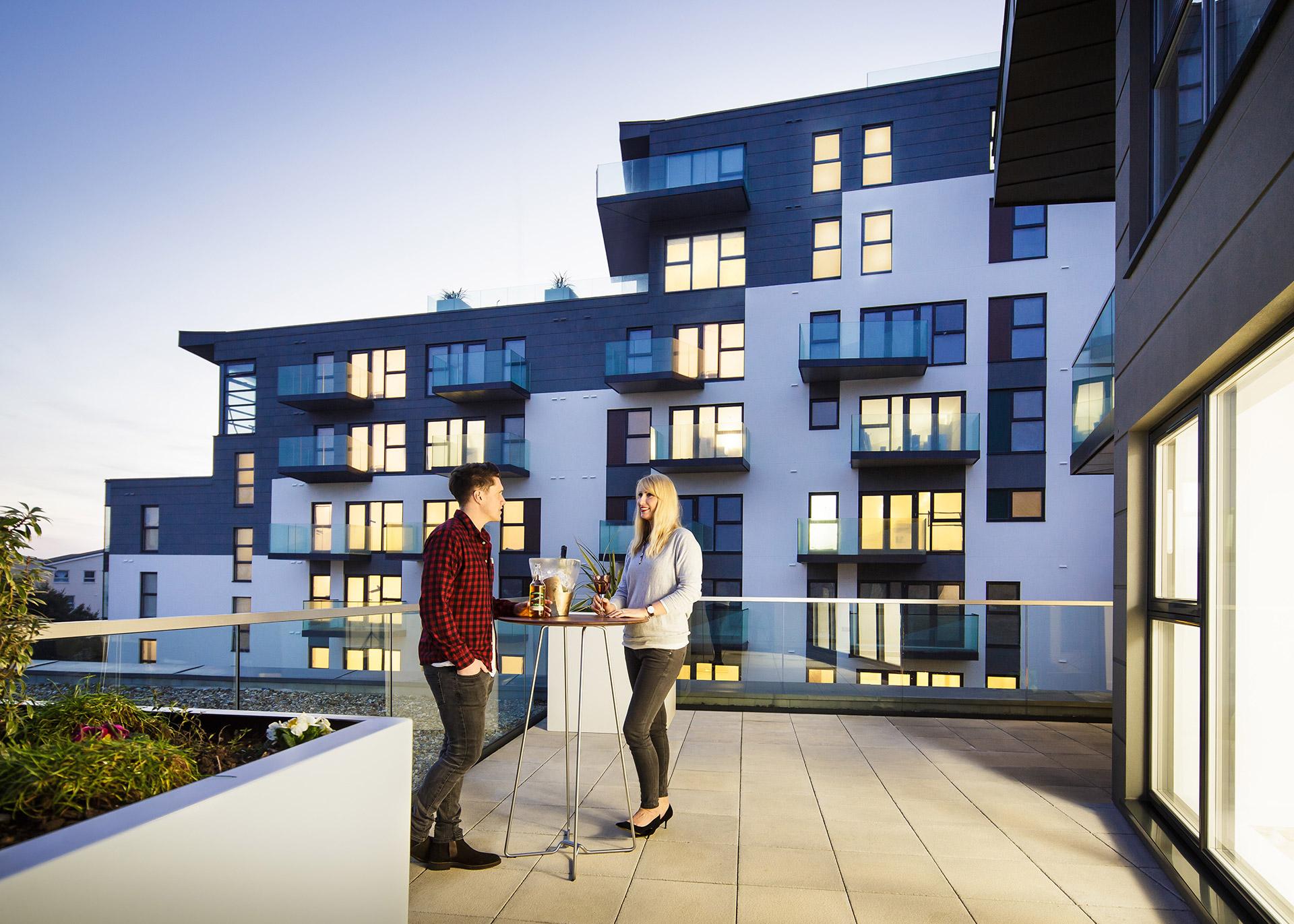 Westmount apartment roof terrace