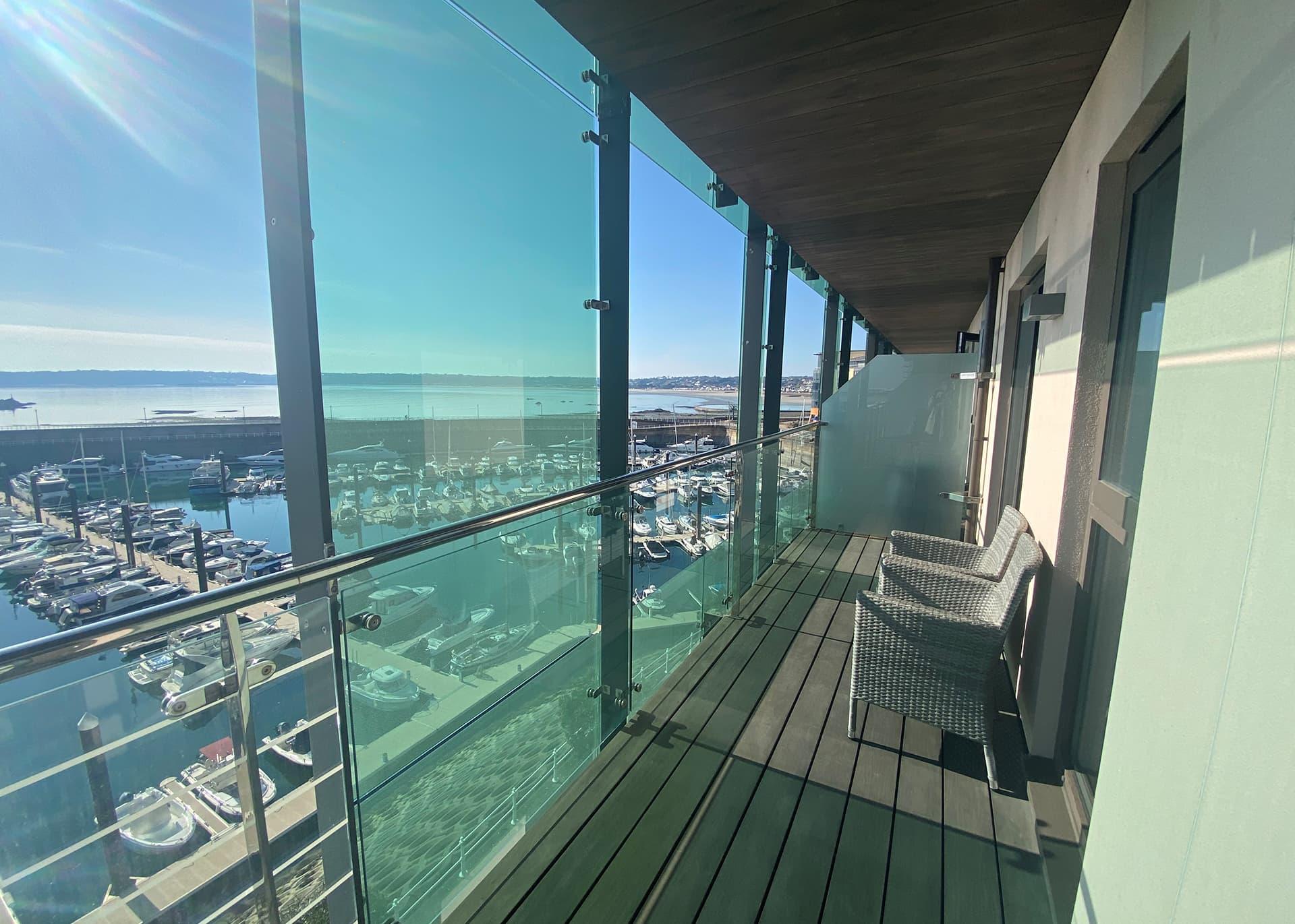Apartment B235 balcony space