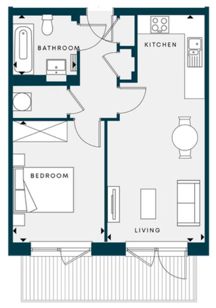 Floorplan apartment c8 The Pavilions III