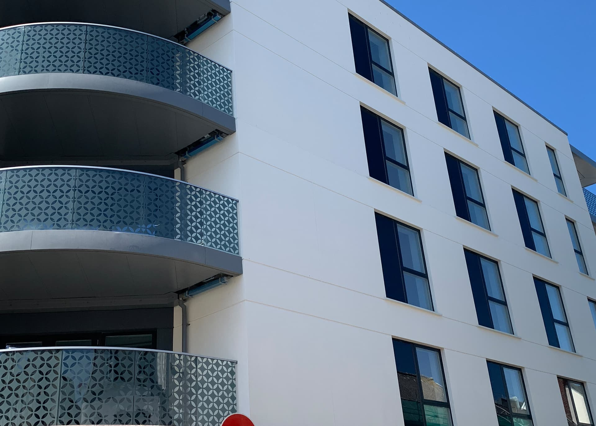 Exterior Hilary Street apartments St Helier