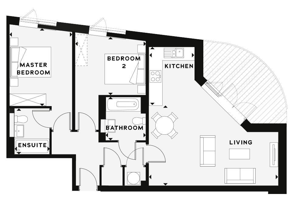 Apartment 19 Hilary Street floorplan